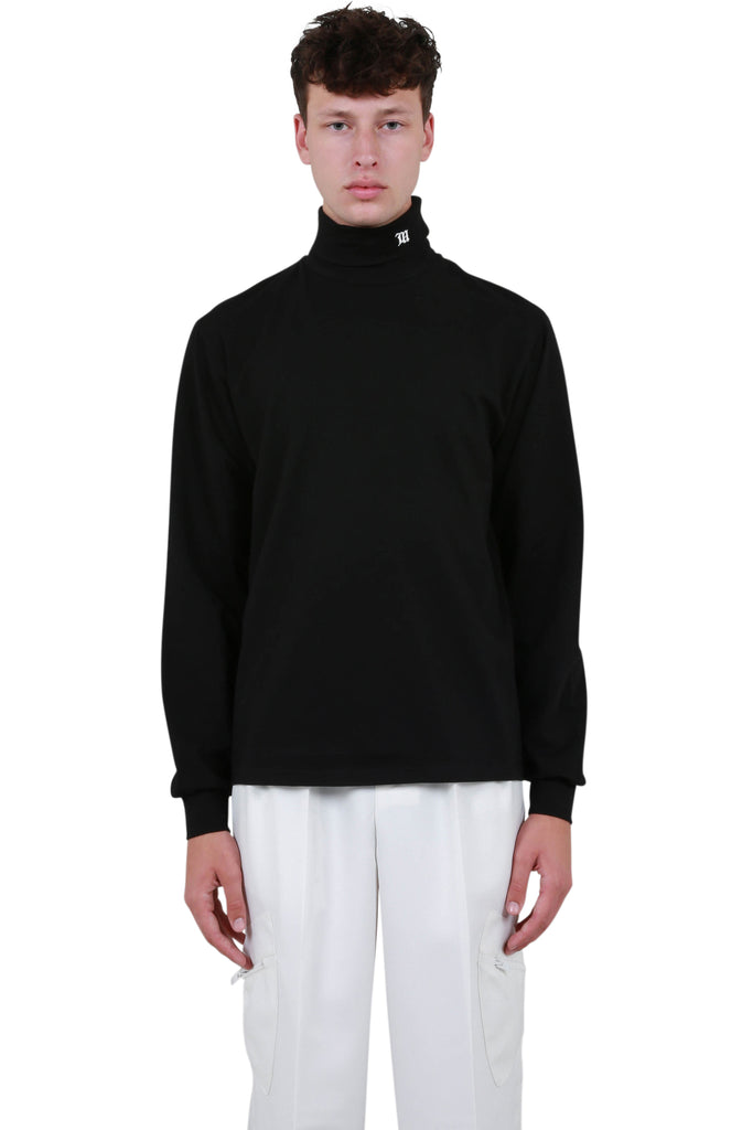 The Monogram Turtleneck - Black
