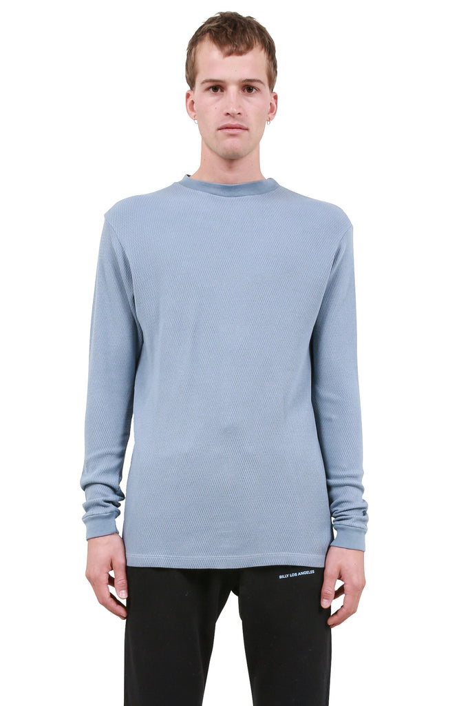 BILLY: Classic Thermal Mockneck - Dusty Blue | LESSONS