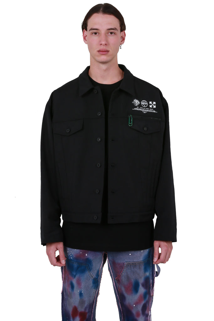 Universal Key Puff Tech Jacket - Black