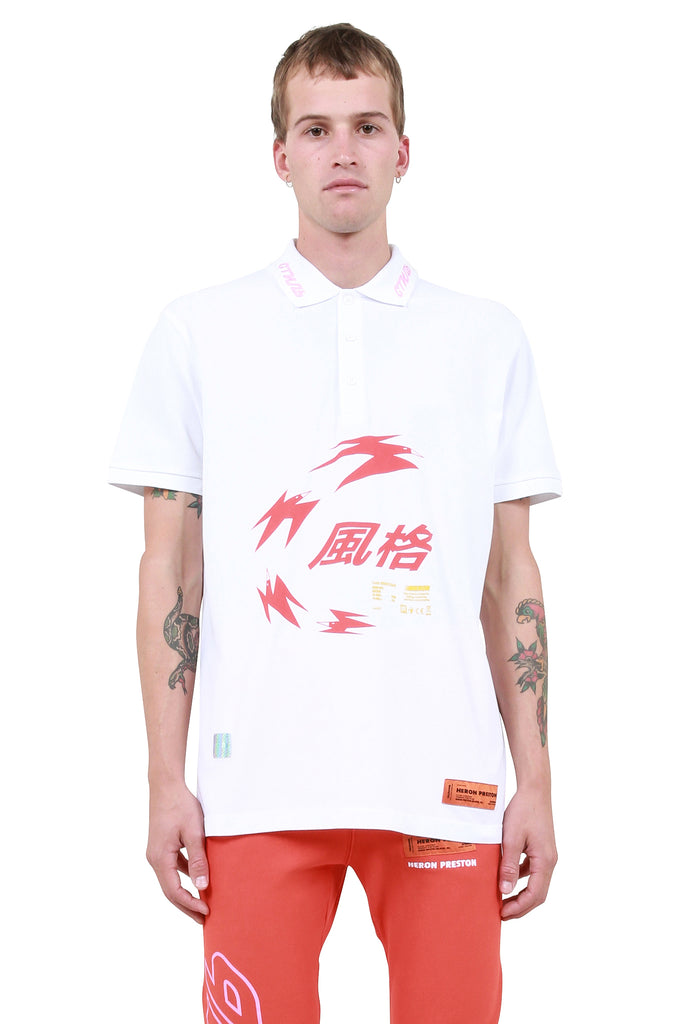 Herons Chinese Polo Shirt - White
