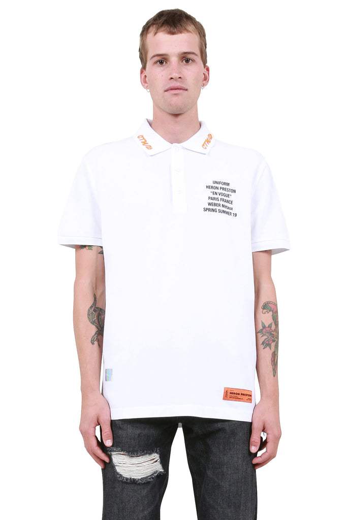Metal Worker Polo Shirt - White