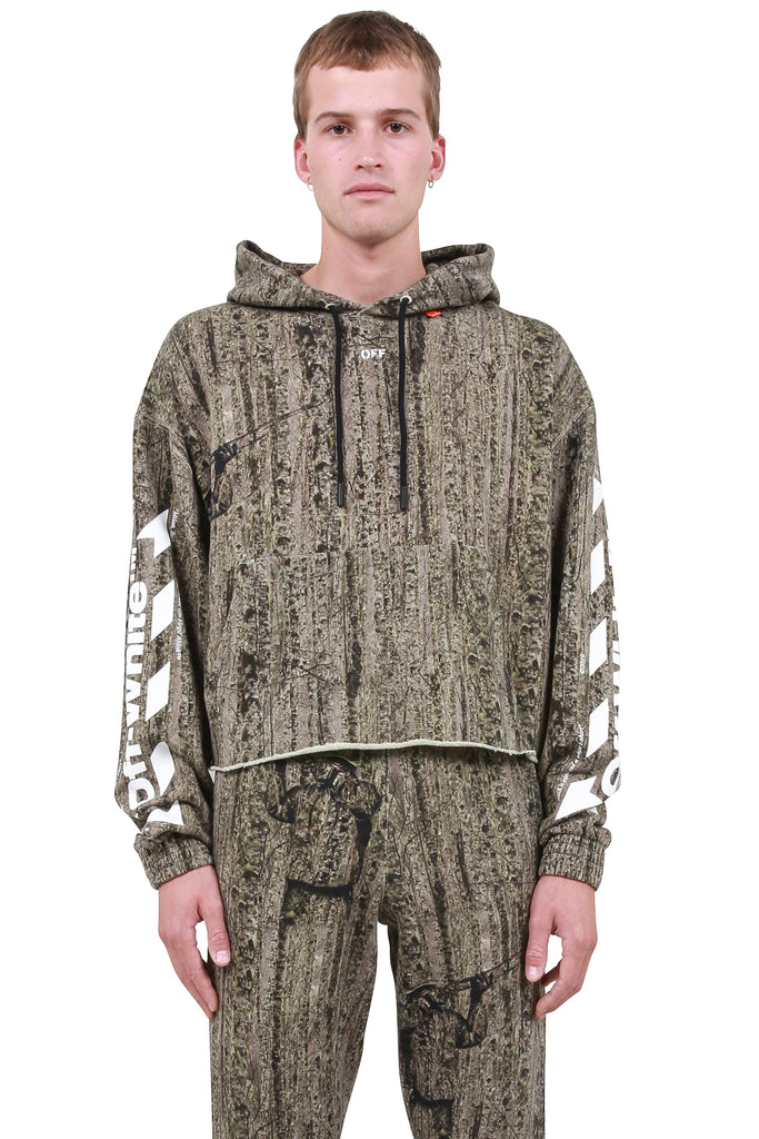 Camouflage Raw Cut Hoodie