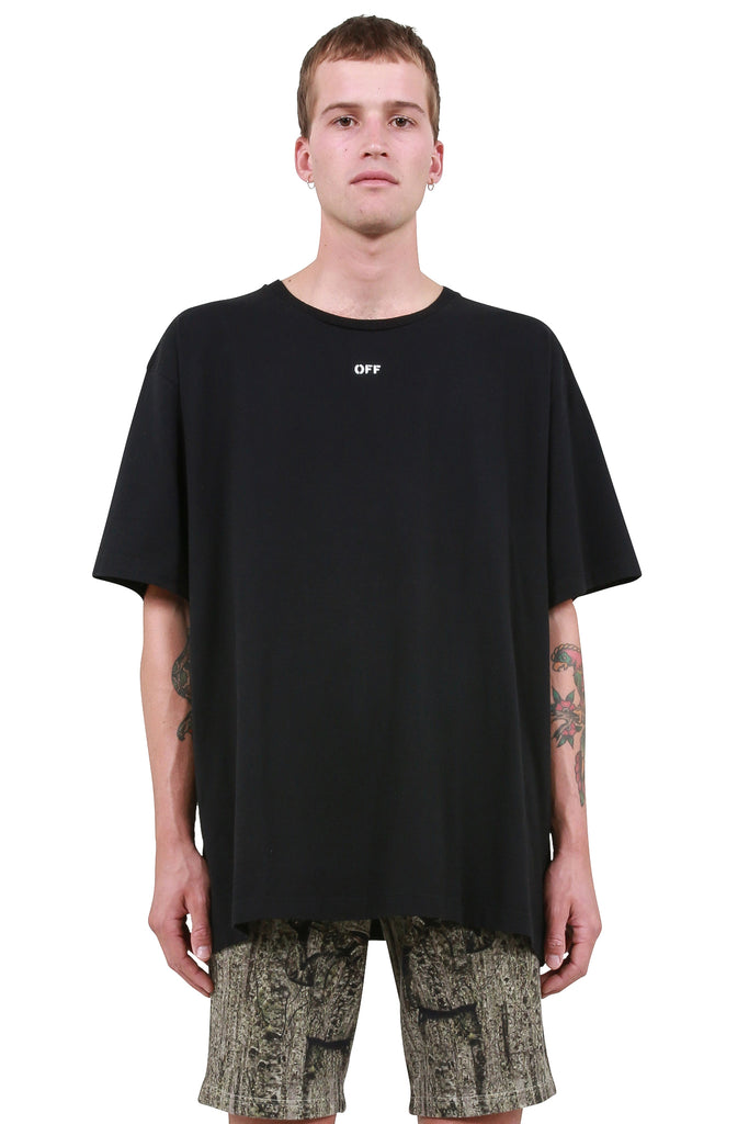 Diagonal Skulls Over T-Shirt - Black