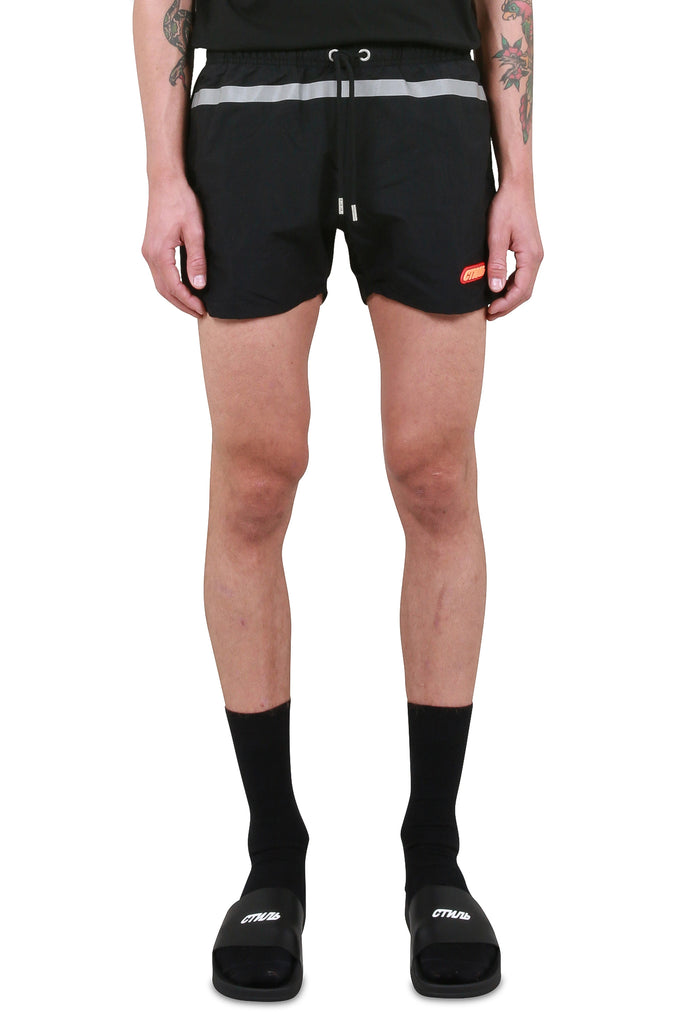 Reflective Swim Shorts - Black