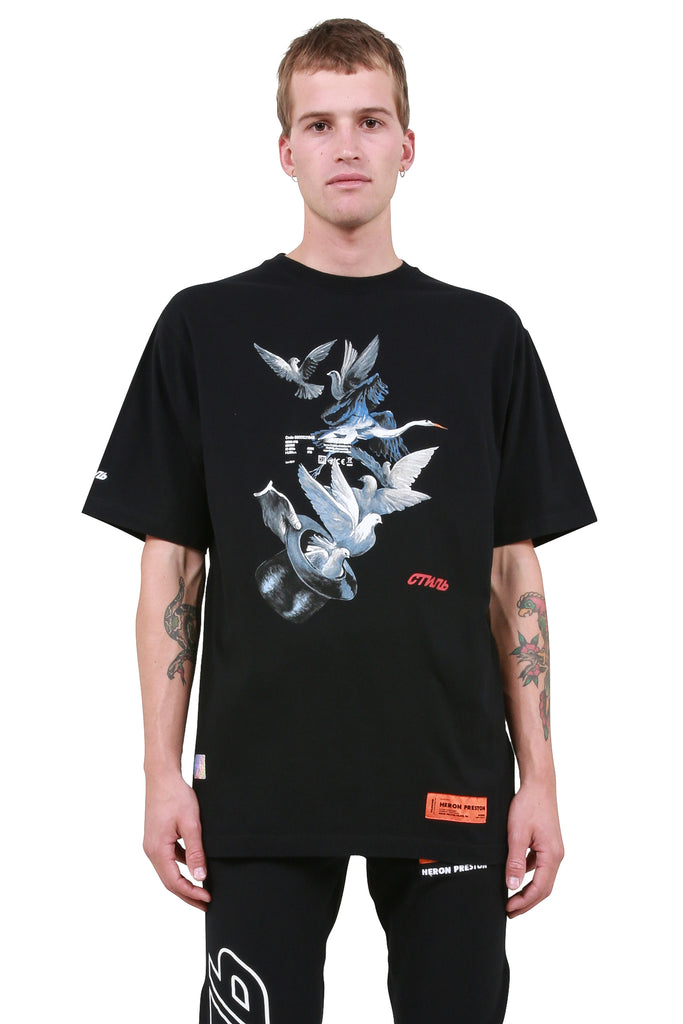Herons Doves T-Shirt - Black