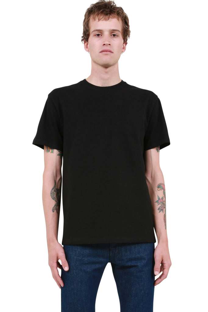 Slim Fit Punkette T-Shirt - Black