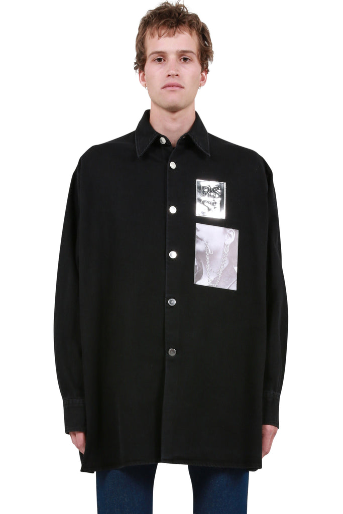 Big Fit Patch Shirt - Black