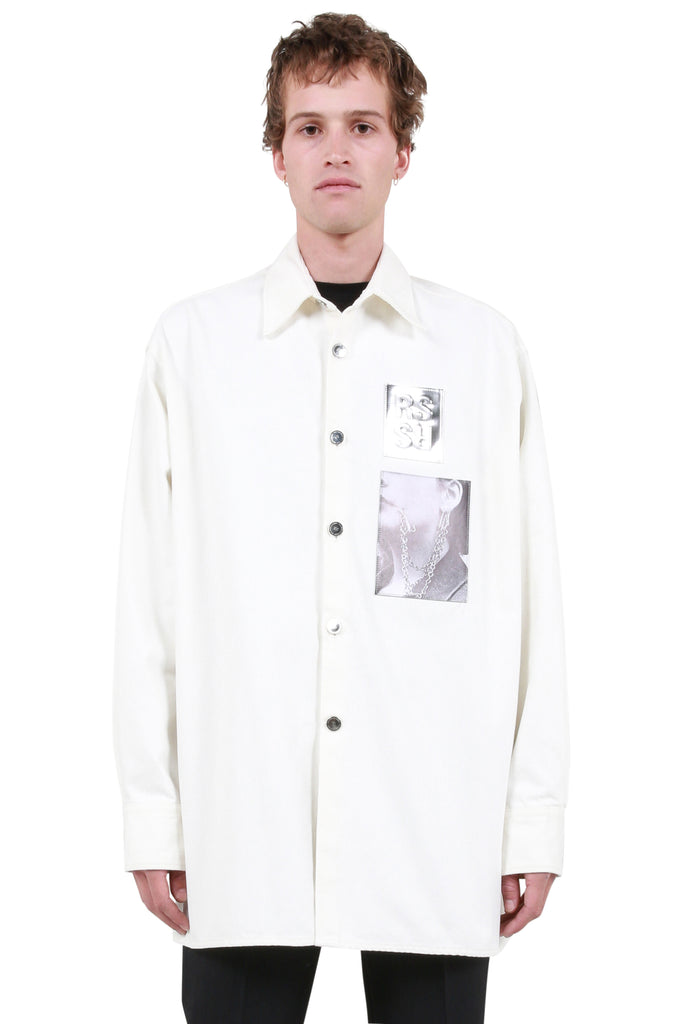 Big Fit Patch Shirt - White