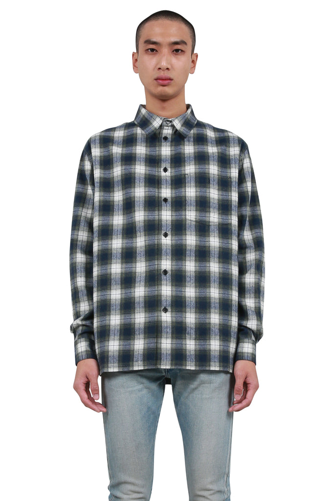 BORN x RAISED: Barbed Wire Flannel - Green | LESSONS