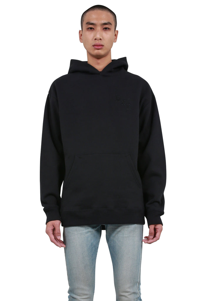 BORN x RAISED: Born X Raised Tonal Hoodie - Vintage Black | LESSONS