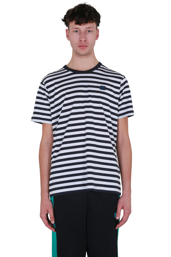 Classic Fit Striped T-shirt - Navy Blue