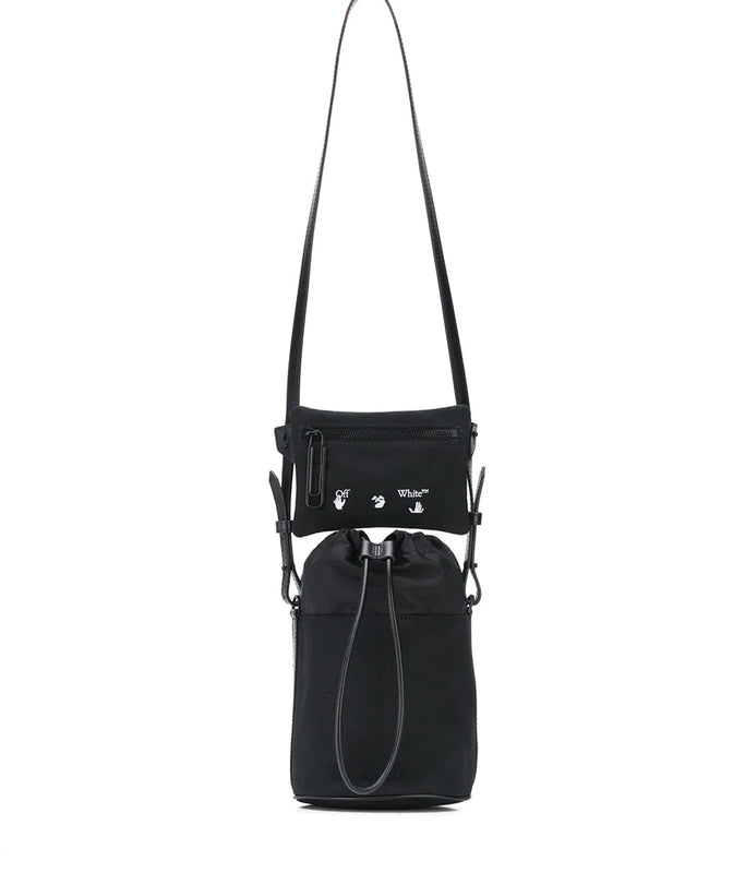 Canvas Bucket Bag - Black/White