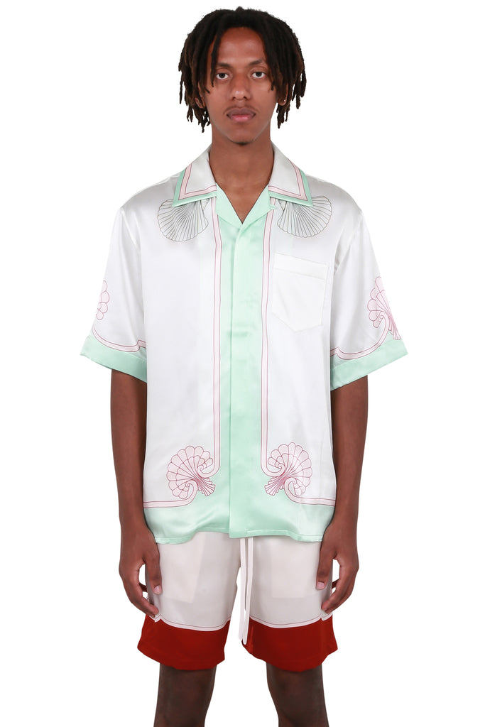 Les Coquillages Satin Shirt - Mint