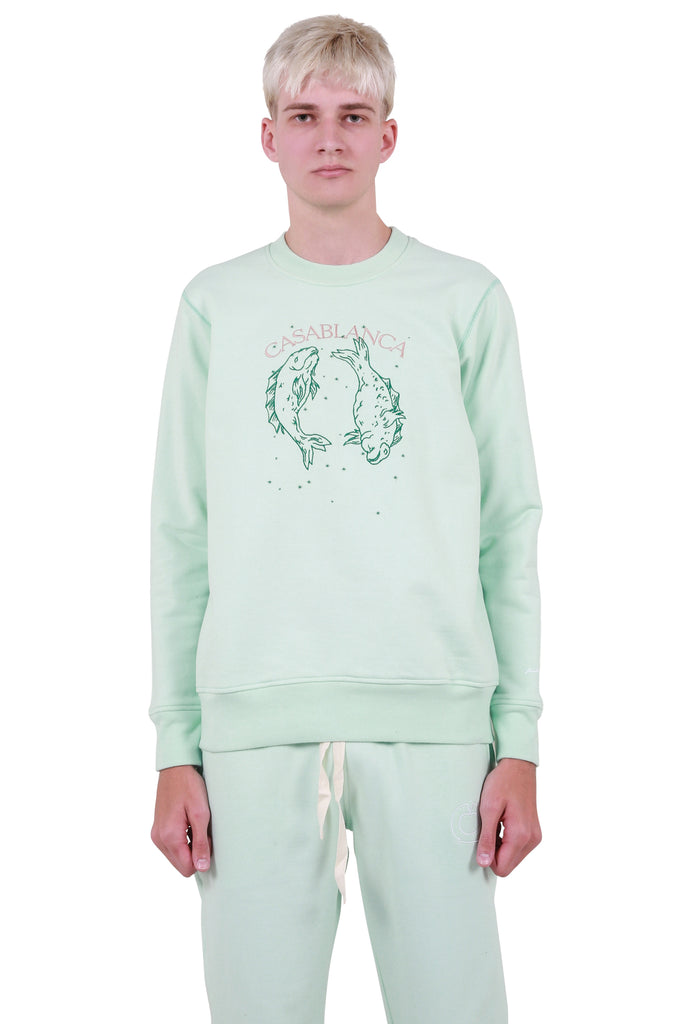 Pisces Constellation Sweatshirt - Mint