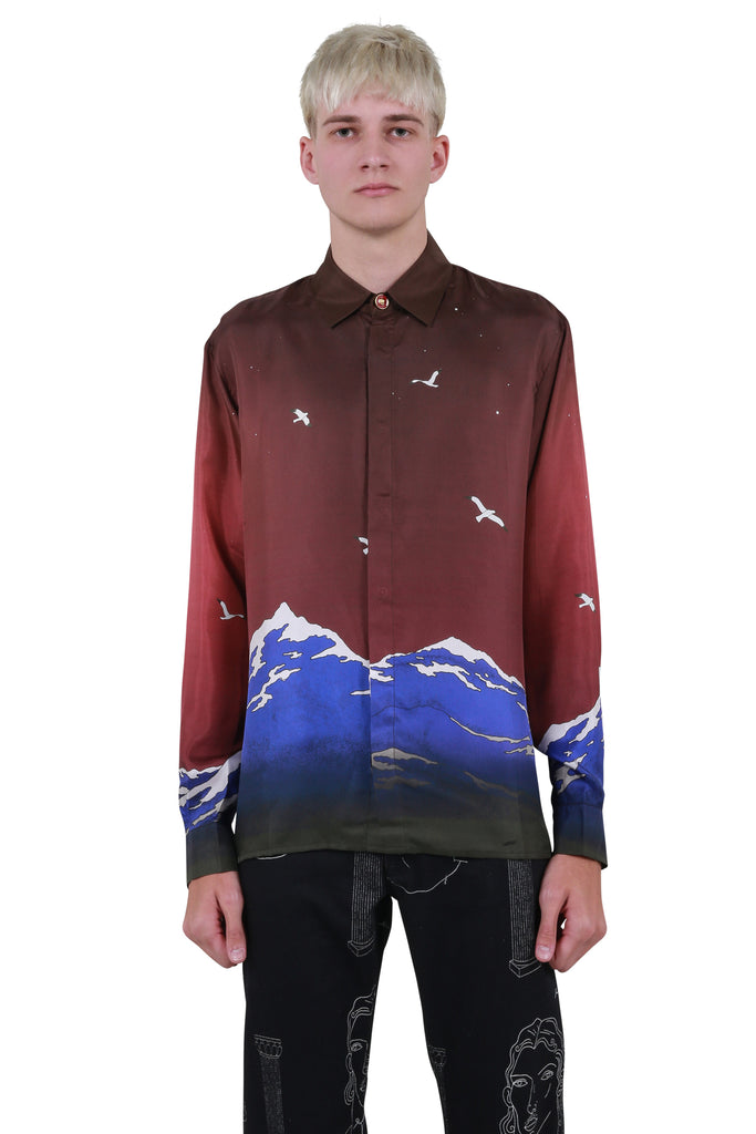 Le Port de Casablanca Silk Shirt - Maroon