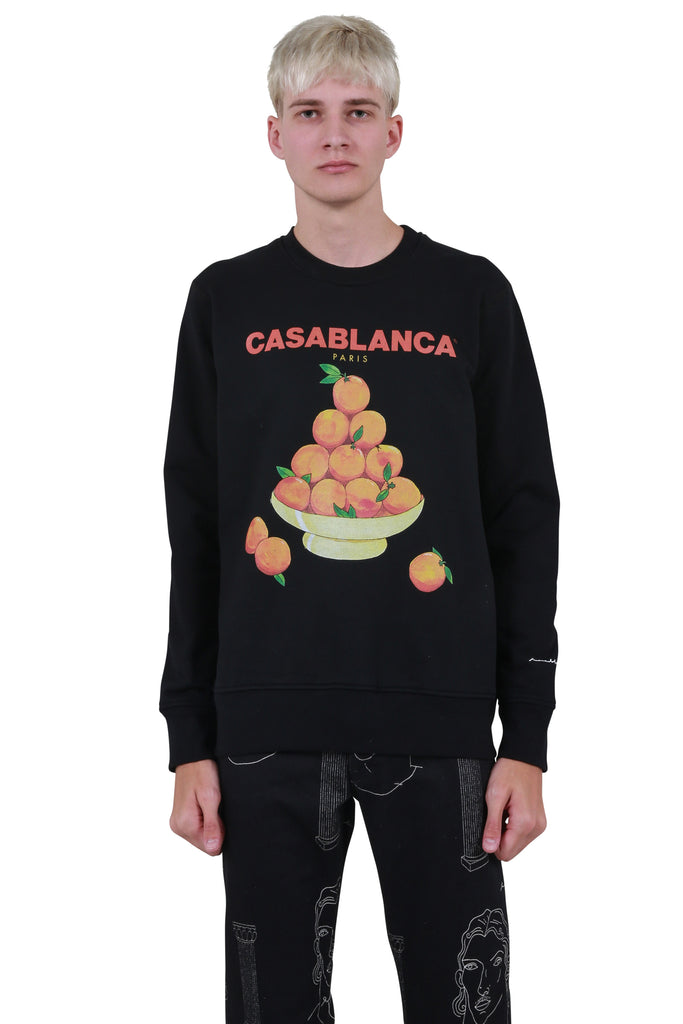 Pyramid of Oranges Sweatshirt - Black