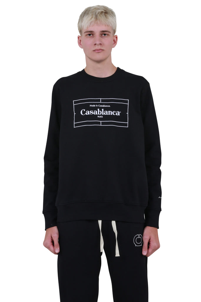 Tennis Court Sweatshirt - Black