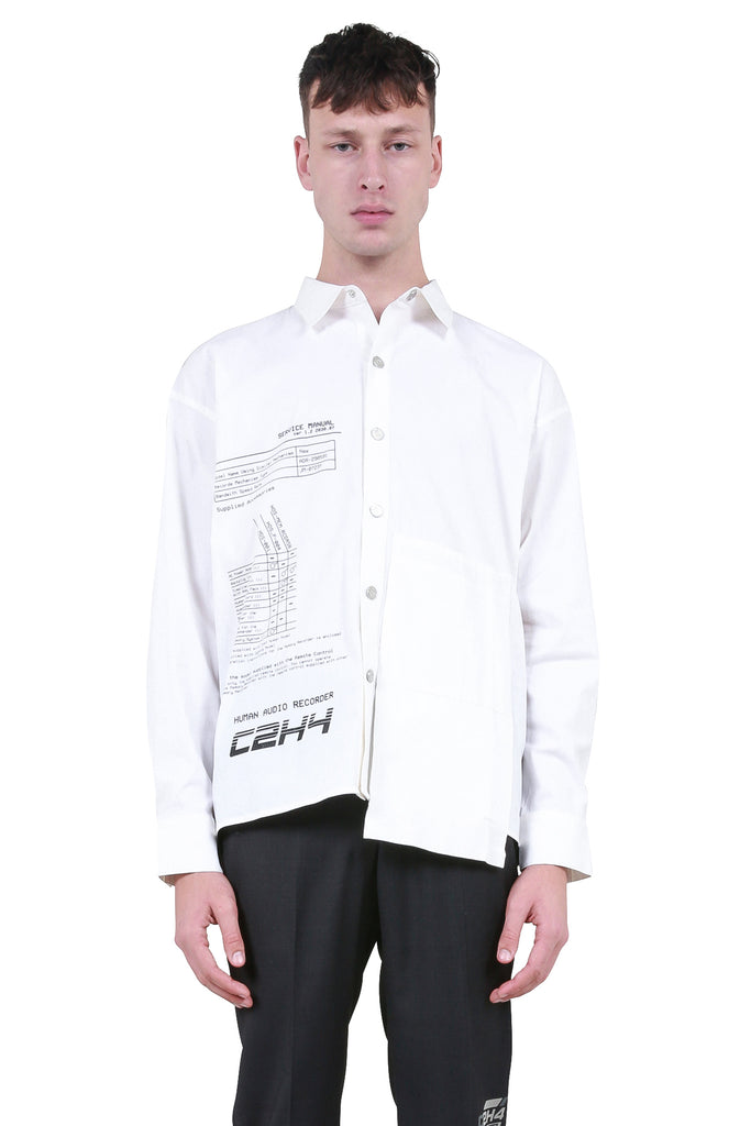Instruction Print Shirt - White