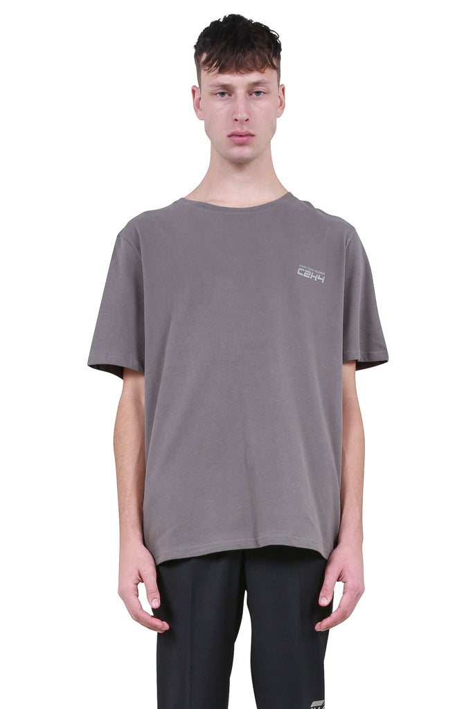 Instruction Print T-Shirt - Slate Grey