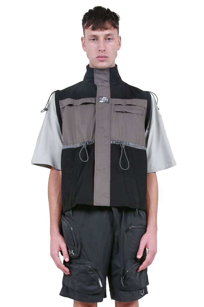 C2H4: 3M Bandwidth Color Blocked Cord Vest - Black | LESSONS
