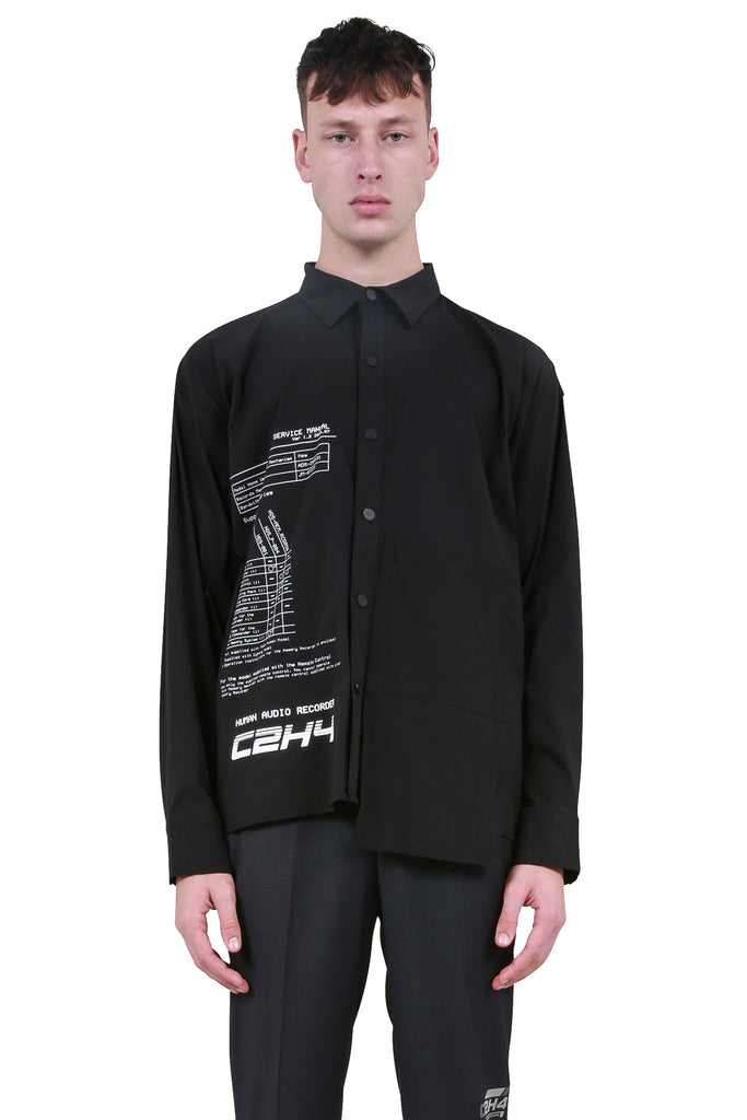 Instruction Print Shirt - Black