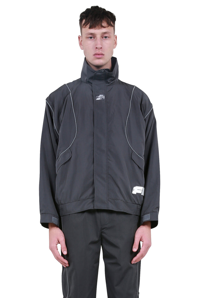 C2H4: 3M Track Jacket - Dark Grey | LESSONS