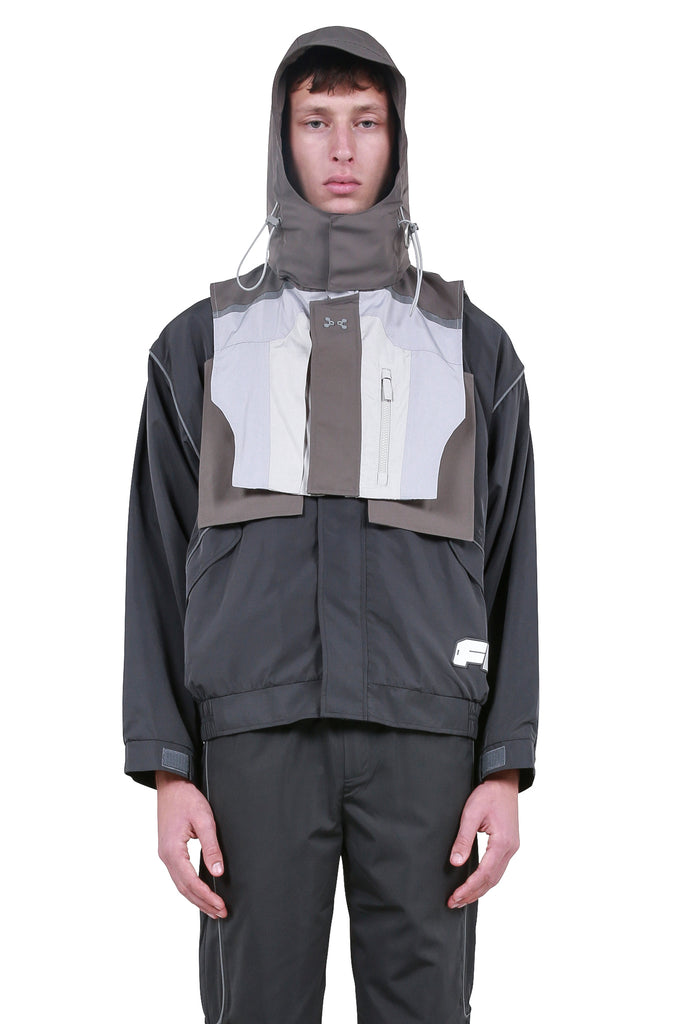 C2H4: Color Blocked Tactical 3M Vest - Grey | LESSONS
