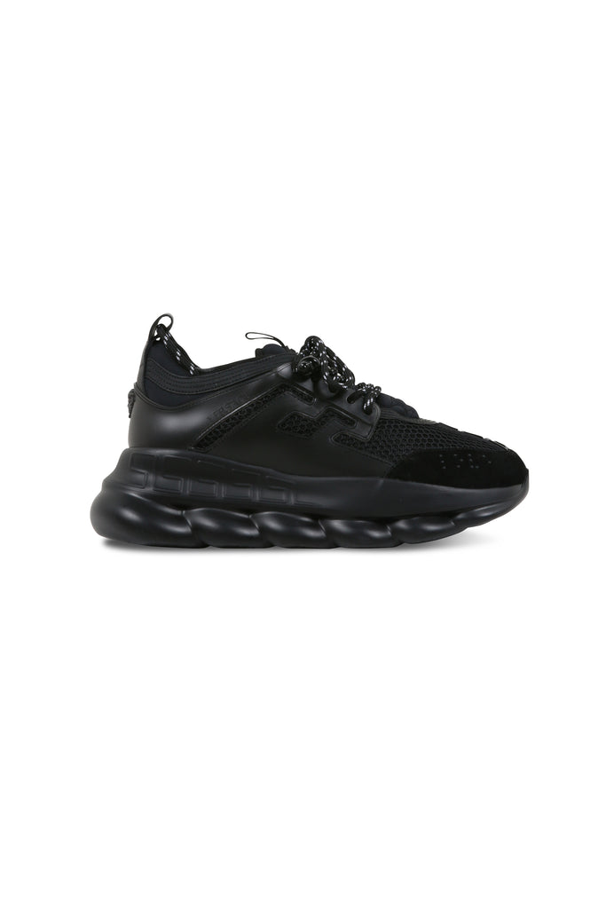VERSACE: Chain Reaction Sneakers - Black | LESSONS