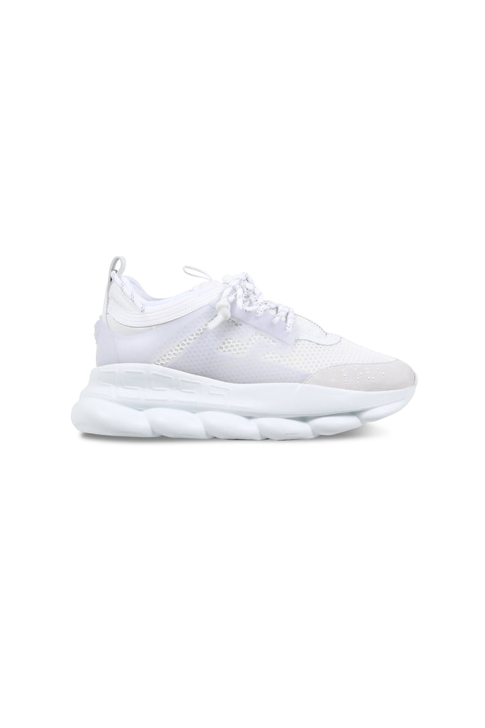 VERSACE: Chain Reaction Sneakers - White | LESSONS