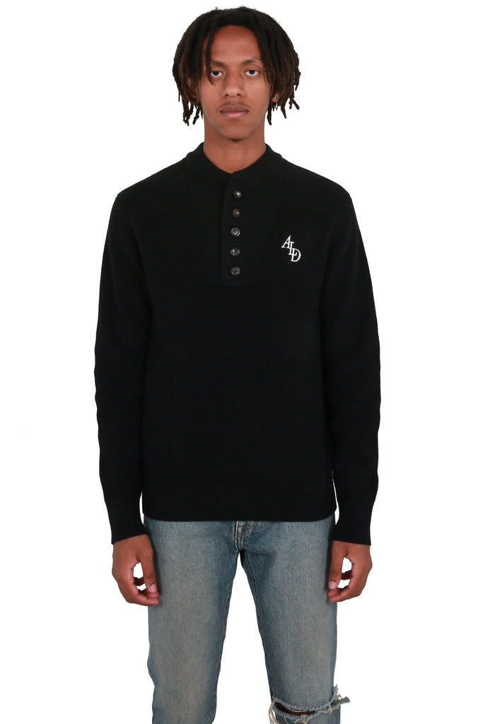 AIME LEON DORE: Fisherman Knit Sweater - Black | LESSONS