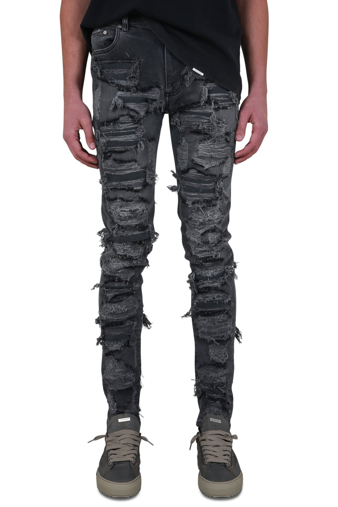 Shredded Denim - Vintage Grey