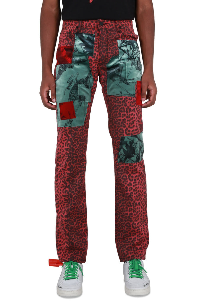 Patchwork Hiker Pants - Cherry