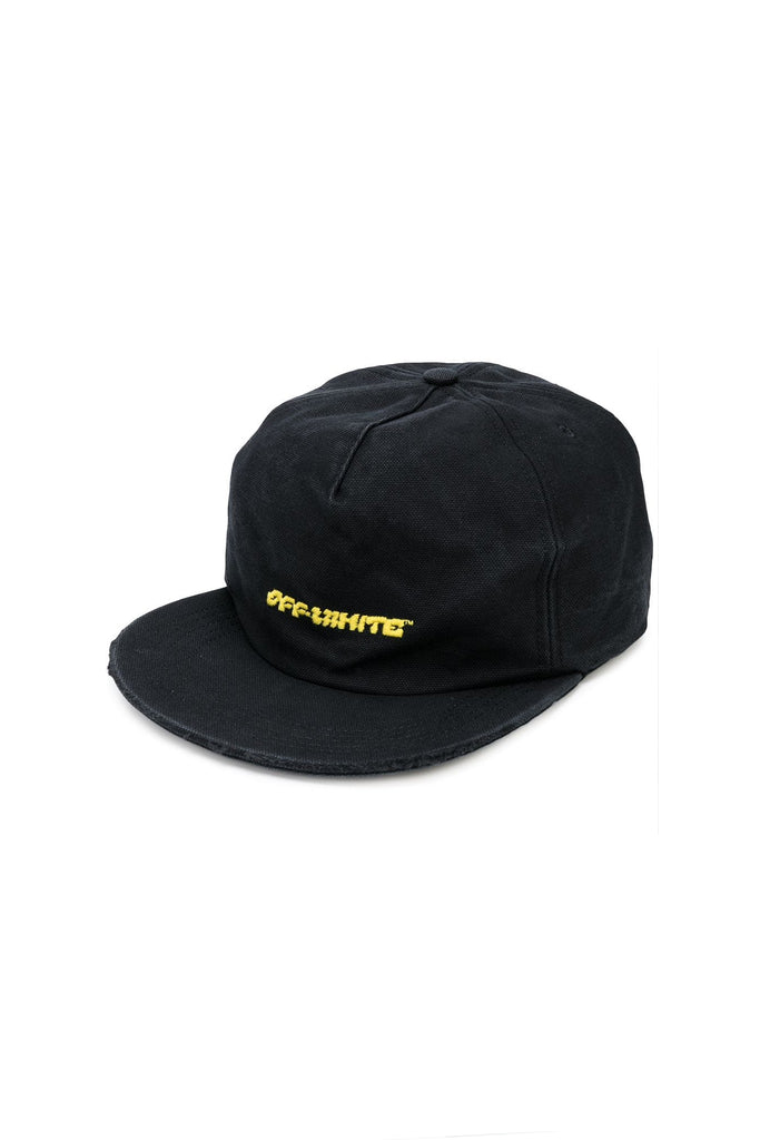 Disrupted Font 5 Panel Cap - Black