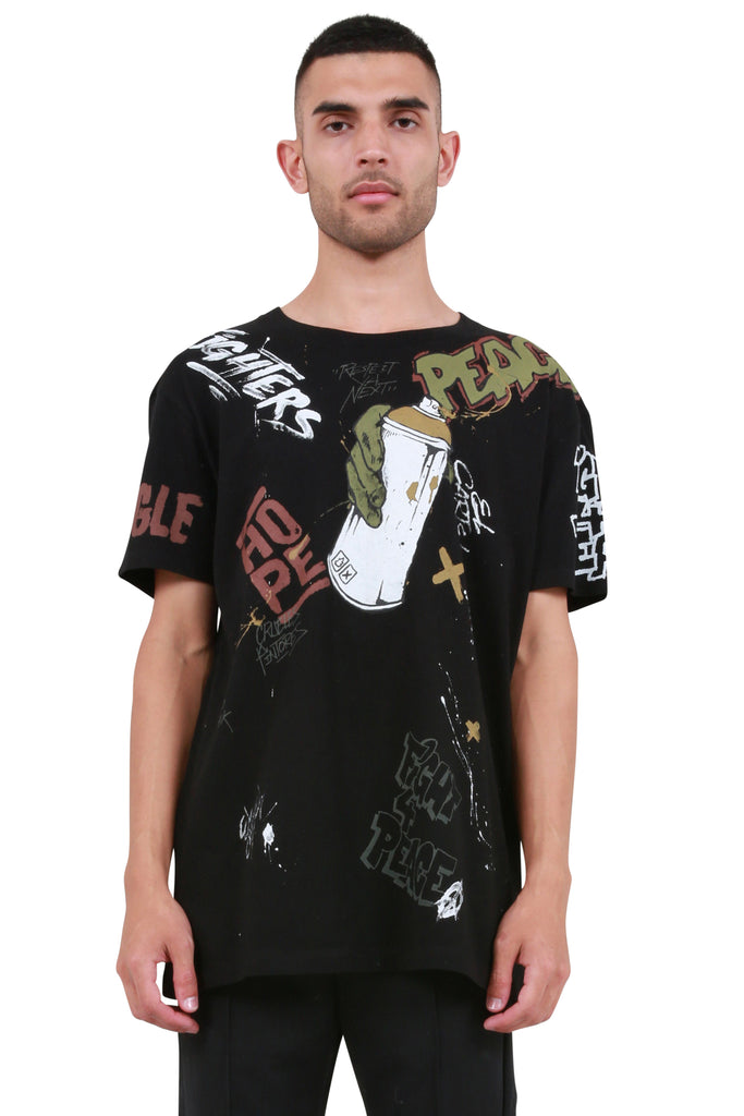 Graffiti Tag T-Shirt - Black