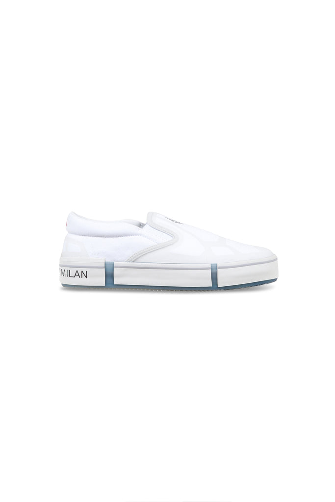 MARCELO BURLON: Cross Vulcanised Slip-On Sneakers - White | LESSONS