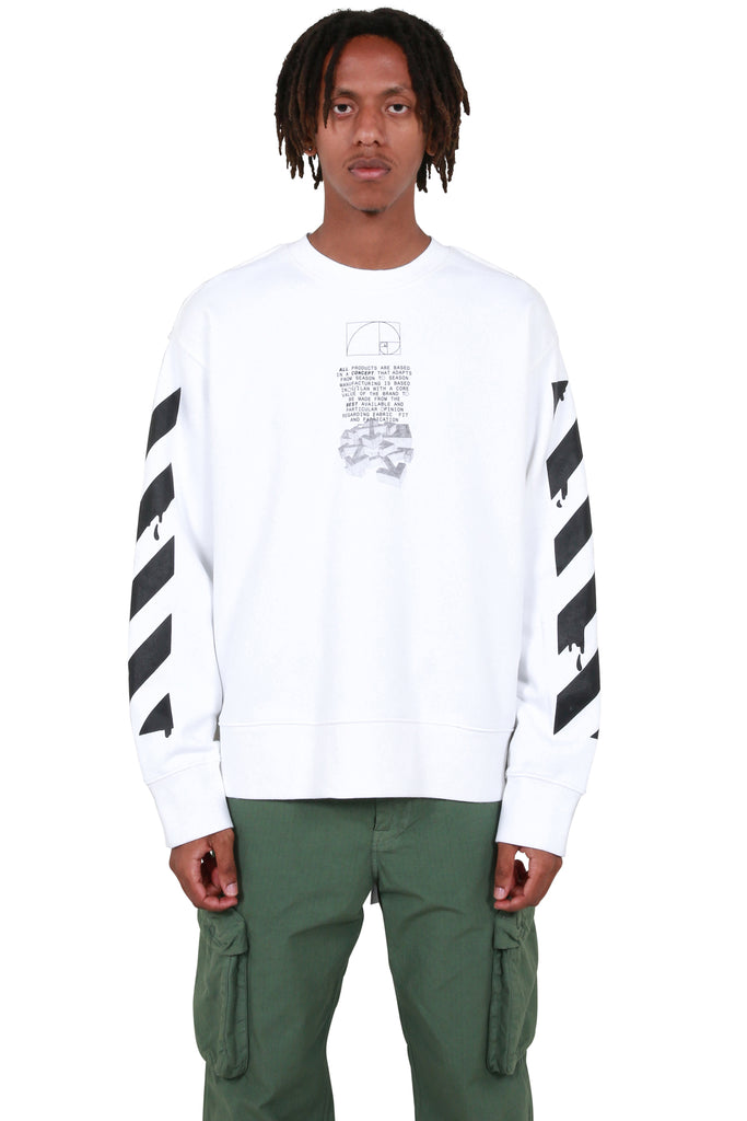 Dripping Arrows Crewneck - White/Black