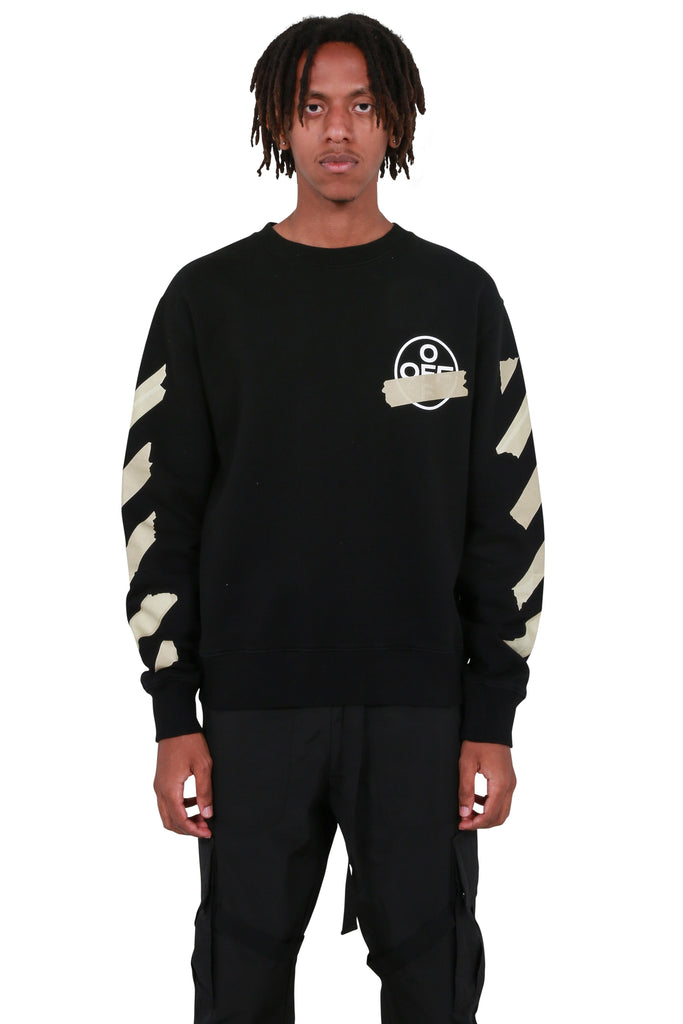 Tape Arrows Slim Crewneck - Black/Beige