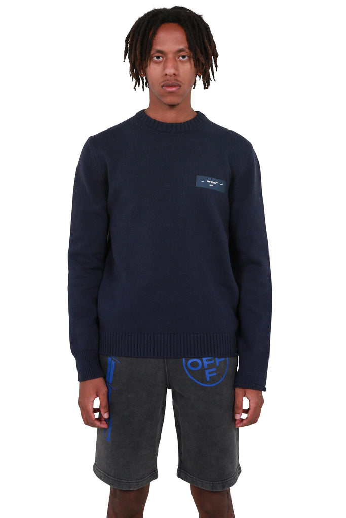 Logo Knit Crewneck - Dark Blue
