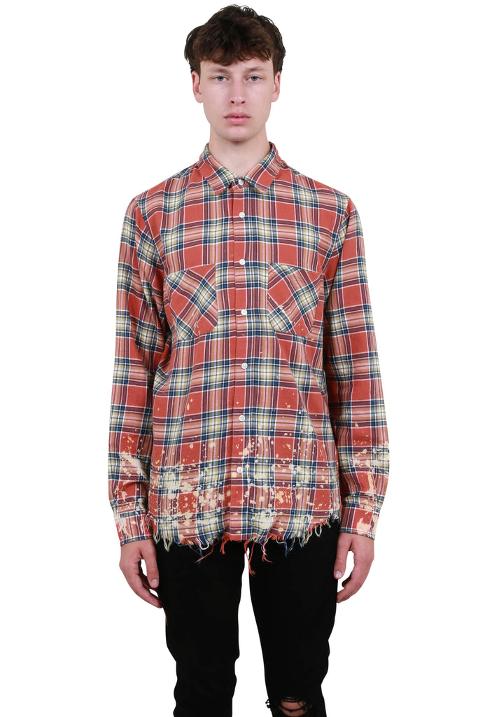 Amiri Splattered Plaid - Red