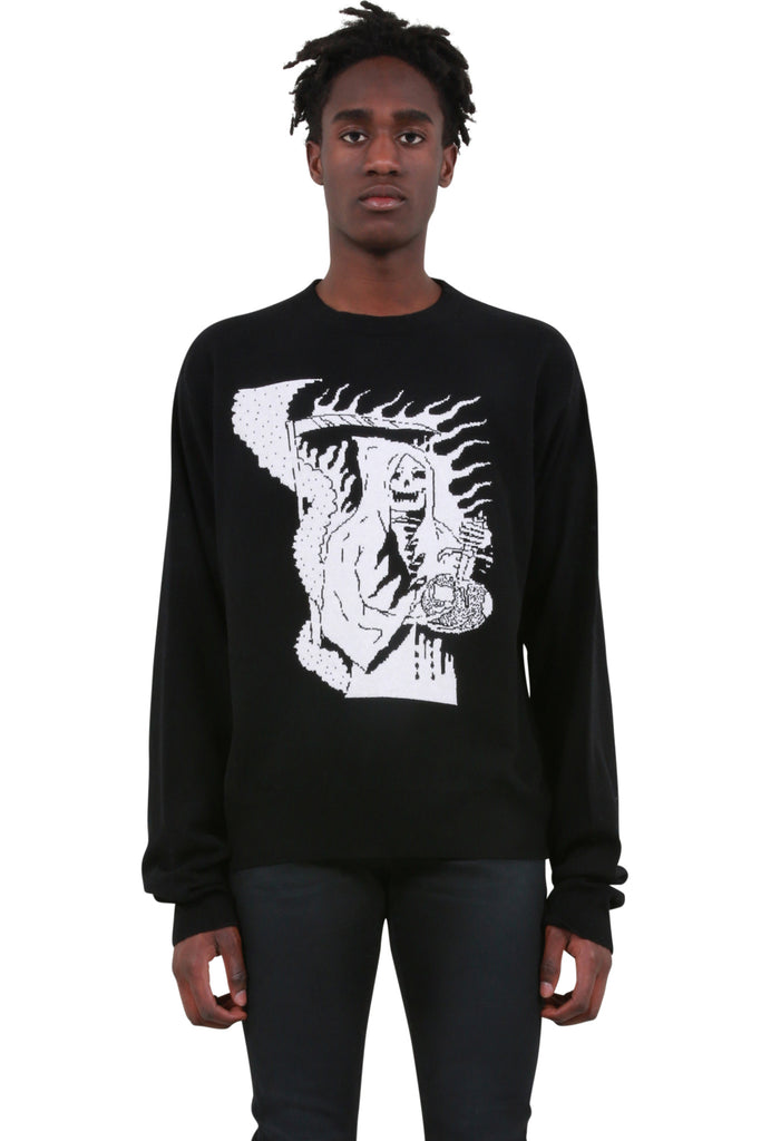 Reaper Knit Sweater - Black