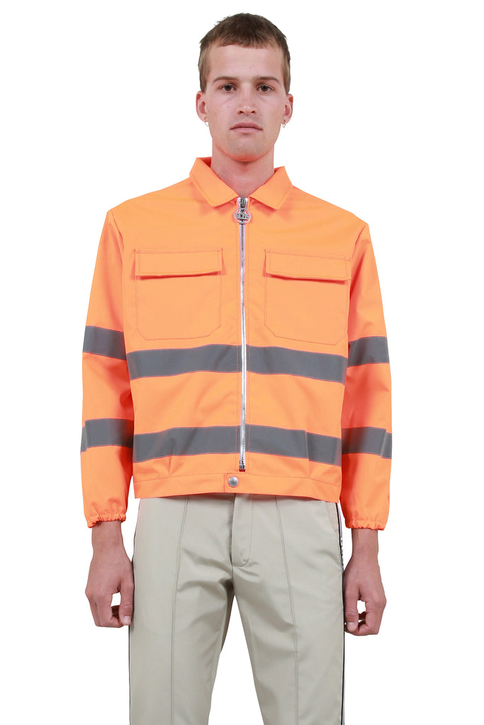 GCDS: Fluoro Workwear Coach Jacket - Orange | LESSONS