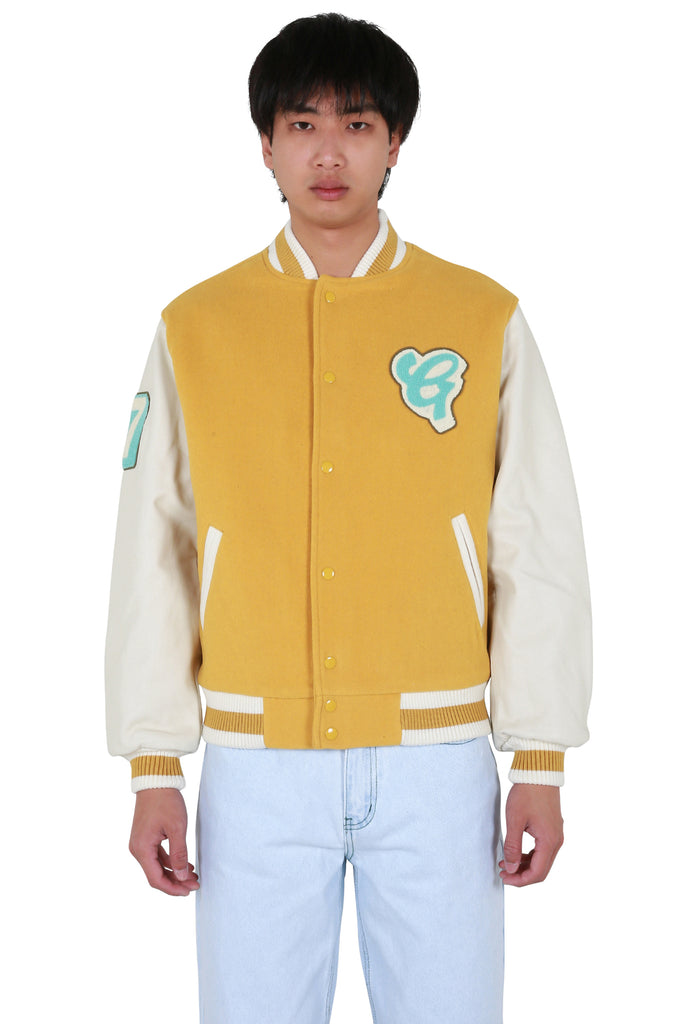 Dirt Letterman Jacket - Yellow