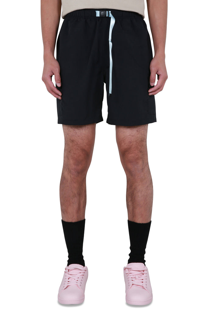 Safari Nylon Cargo Shorts - Black