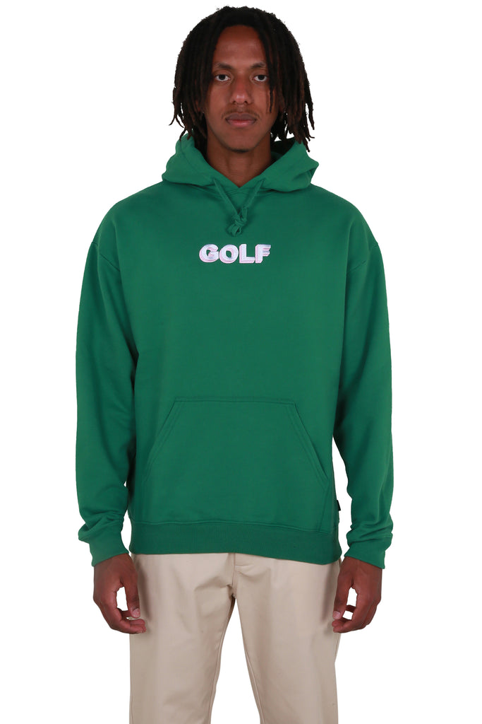 Golf 3D 2 Tone Logo Hoodie - Forest Green