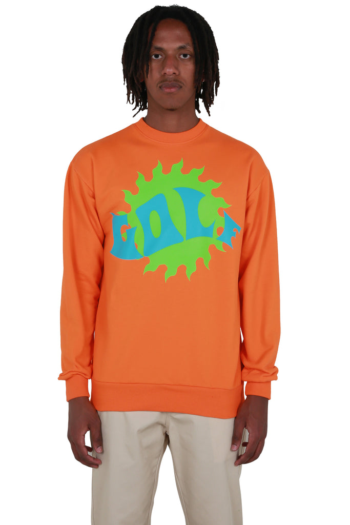 Waves Crewneck - Orange
