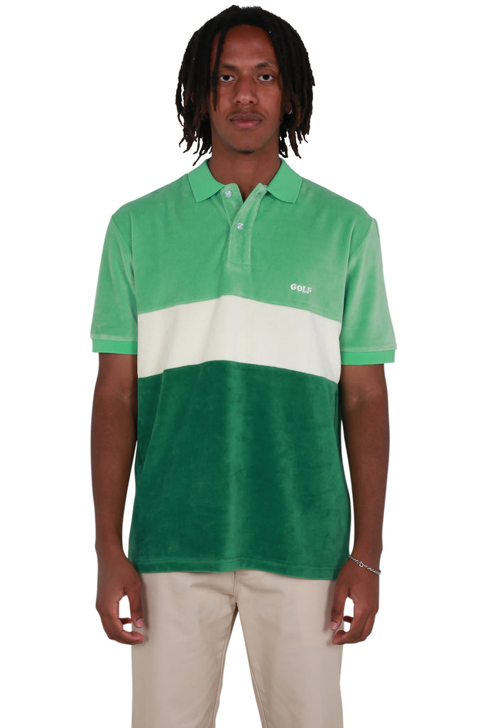 Cooper Velour Polo - Green