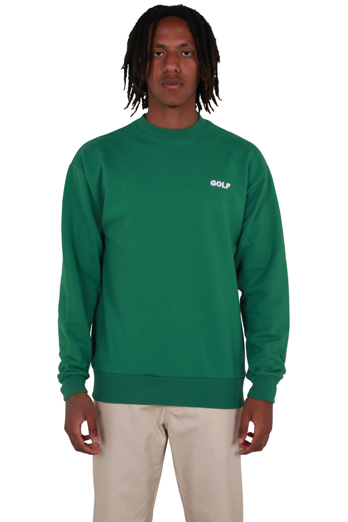 Golf Mini 3D 2 Tone Logo Crewneck - Forest Green