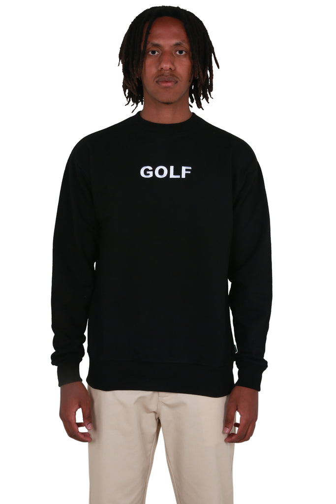 Golf Logo Crewneck - Black