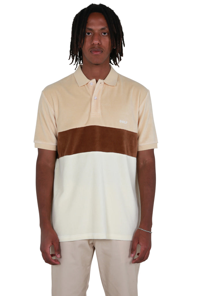 Cooper Velour Polo - Brown