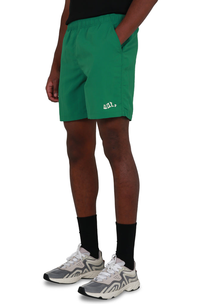 Waves Nylon Shorts - Green